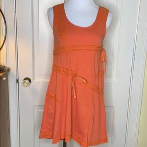 NWT Mur Mur Orange cotton dress Size Small